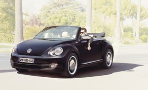 coccinelle cabriolet beige capote beige